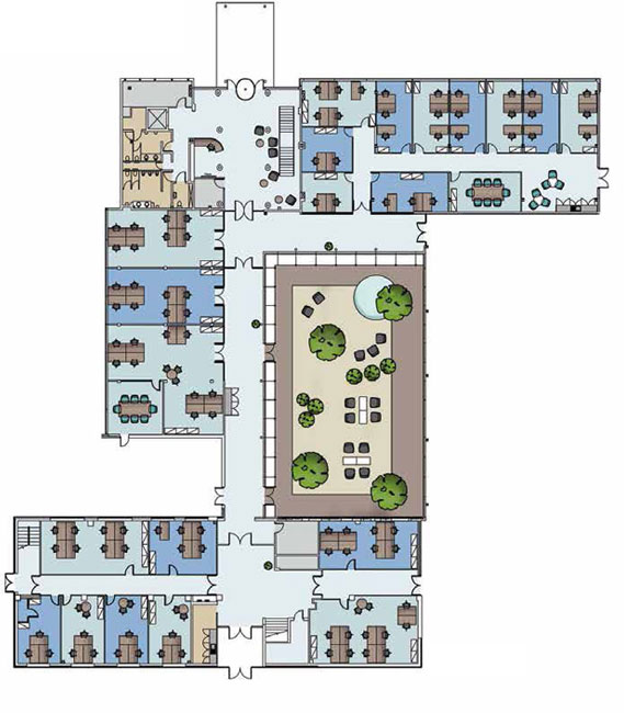 Serviced offices floor plan valiant office suites for Interactive office floor plan